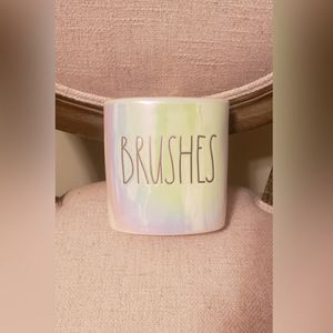 Rae Dunn iridescent brushes container